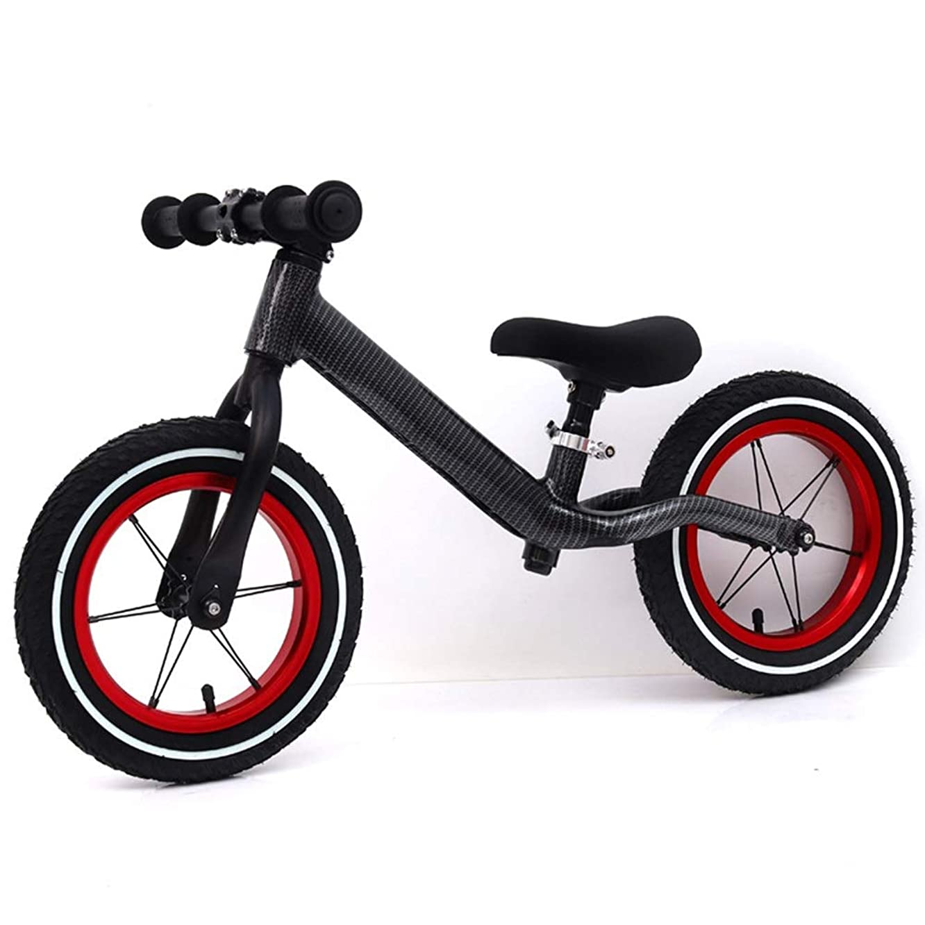 LZ-SNAIL Balance Bike Balance Bike Without Pedals with Adjustable Handlebar & Soft Seat, 2-6 Years Toddler Push Bike Indoor Outdoor Activities ( Color : Gray )