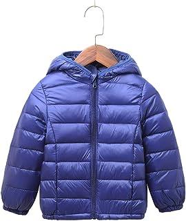 Children Unisex Ultra Lightweight Quilted Hooded Puffer Jacket Outwear Fall Windproof Coats
