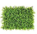 WHAPPY Künstliche Buchsbaumplatten Topiary Heckenpflanze, Sichtschutz Hecke UV-geschützt Geeignet für Outdoor, Indoor, Garten, Zaun, Hinterhof und Dekor