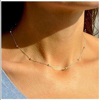 Amkaka Minimalist Sterling Silver Choker Necklace