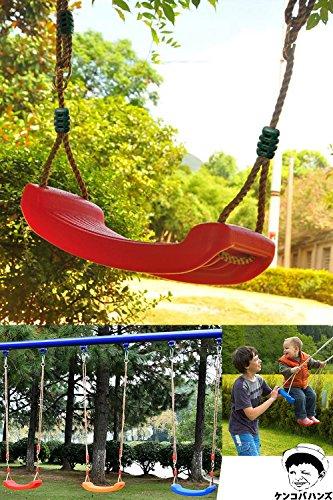 [ケンコバハンズ]子供激笑お家でブランコ自宅室内お庭でお手軽ブランコ遊び(レッド(赤))