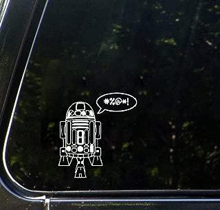 Car Sticker Black/White 22cm Tall R2D2 Car Window Fashion Modern Car Body Sticker Decal