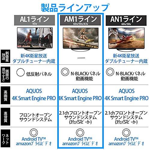 『シャープ 60V型 液晶 テレビ AQUOS 4T-C60AM1 4K HDR対応 低反射「N-Blackパネル」搭載 2018年モデル』の7枚目の画像
