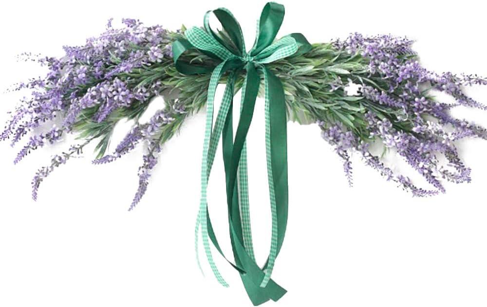 Kuinayouyi Lavender Regular dealer Door Swag Artificial Purple Bombing free shipping Cha Floral