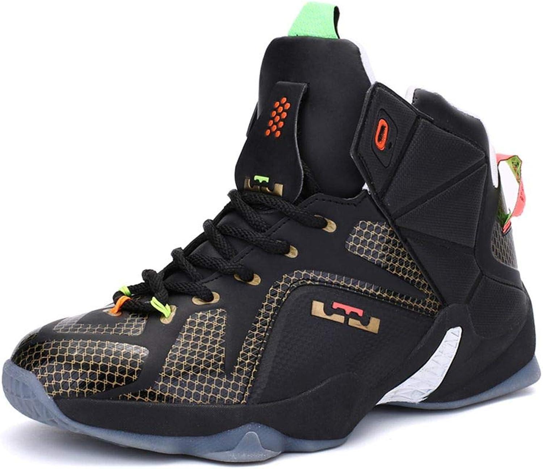 CosDN herr Mode High High High Top Shock Absorption Bear Resistent Basketball skor utomhus Sports springaning Casual skor Storlek 10 svart -guld  försäljning