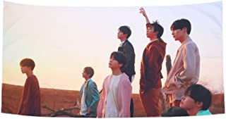 Teblacker BTS Wall Tapestry, Kpop Bangtan Boys [Love Yourself 結 Answer] [Love Yourself 轉 Tear] Beach Towels Wall Hanging Tapestry for Home Decor(Style 04)