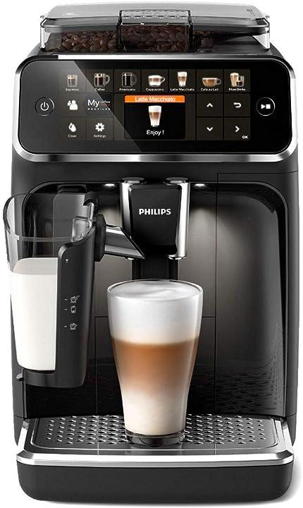 Macchina da caffè e cappuccino philips serie 5400 lattego automatica con macine in ceramica e filtro EP5441/50