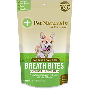 Pet Naturals of Vermont - Breath Bites, Fresh Breath Dental Health Bites, 60 Bite-Sized Chews