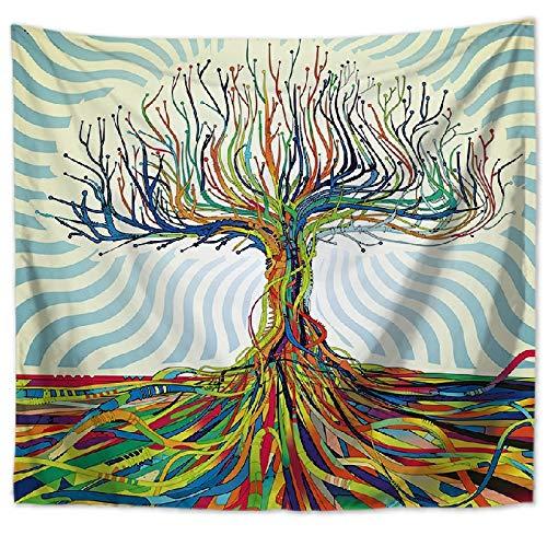 Hermoso bosque natural impreso tapiz de pared grande de hippie colgante de pared tapiz de pared bohemio tela de fondo a3 150x200cm