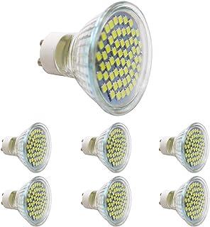 Chao Zan Bombilla LED GU10, luz blanca fría, 3 W, equivalente a 30 W, 300 lúmenes, foco LED GU10, CA 220-240 V, 6 unidades