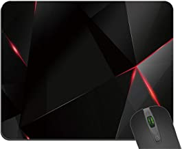 Creative Painting Rectangle Black and Red Abstract Mouse Pad Durable Mouse Mat Gaming Mouse Pad