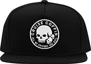 Cruise Coffin All My Friends are Evil Snapback Hat