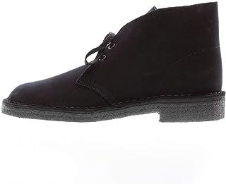Clarks Originals Homme Desert Boot Suede Leather Black Bottes 45 EU
