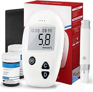 Diabetes Pruebas Equipo Sangre Glucosa Monitor Seguro Accu Prueba Equipo con Codefree Tiras x 50 Y Sin Dolor Lancetas en mmol/L Fauay