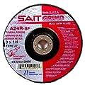 United Abrasives SAIT Type 27 Grade A24R Long Life Depressed Center Grinding Wheels