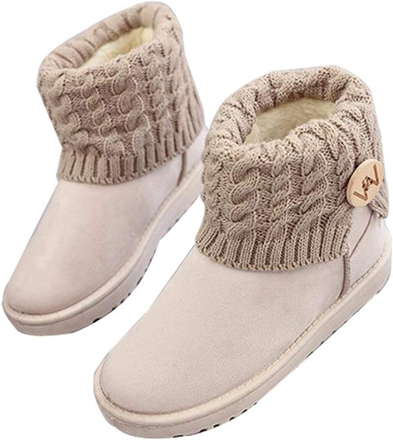 Women Snow Boot Ankle Wool Line Round Toe Concise Black Beige Suede Non-Slip Plush Fur Warm Laides Outdoor Casual Walking shoes