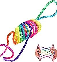 rainbow rope Jeu Doigt Jeu Corde Filament Ztringz