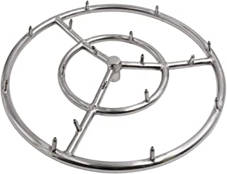 Skyflame 18 Inch Round Stainless Steel Fire Pit Jet Burner Ring, High Flame