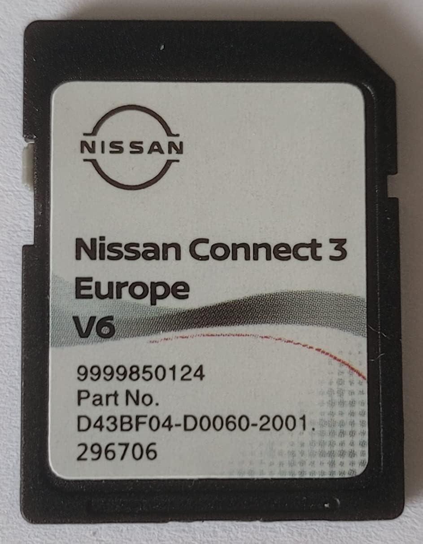 Tarjeta SD GPS Europa 2021 v6 – Nissan Connect 3 LCN2 – (Q1.2020) – D43BF04-D0060-2001