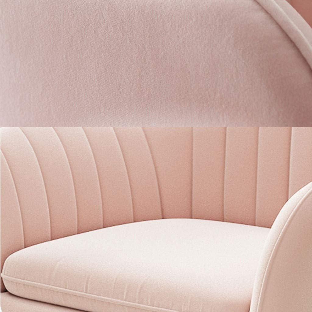 LSRRYD Chaises De Salle À Manger En Velours Chaise De Loisirs Moderne Et Élégant Chaise De Cuisine Rembourrée Avec Pieds En Métal Pour Salon Chambre À Coucher (Color : Blue) Pink