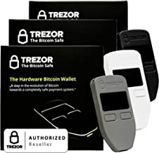 Variety Pack Black, Grey, and White Satoshi Labs Trezor Safe Wallet for bitcoin storage offline wallet safe BTC Litecoin LTC Namecoin Dogecoin Dash