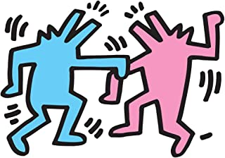 BLIK Surface Graphics Keith Haring Dancing Dogs, Officially Licensed 39-inch by 27-inch Removable Wall Decal, Made in USA