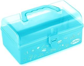 جعبه ذخیره سازی پلاستیک مدرسه Funtopia ، جعبه ذخیره سازی هنری و صنایع دستی ، جعبه ابزار برای کودکان ، کودکان ، ظروف ذخیره سازی و کیف با قفل و دسته ، ایده آل برای موارد هنری ، اسباب بازی ، لوازم التحریر و سایر موارد - آبی