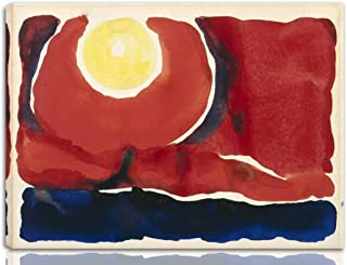 Berkin Arts Georgia O'Keeffe Stretched Giclee Print On Canvas-Famous Paintings Fine Art Poster Reproduction Wall Decor-Ready to Hang Fine Art Wall Decor(Evening Star No. VI)#NK