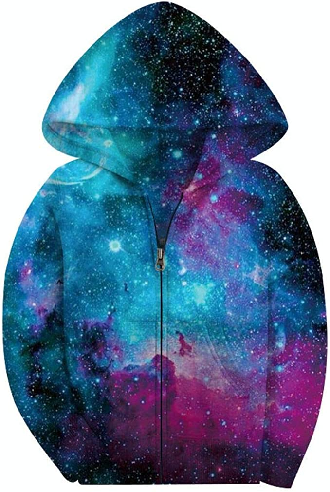 SAYM Big Boys' Youth Galaxy Teen Full Cheap Cheap bargain mail order sales Jackets Zip Hooded Fleece