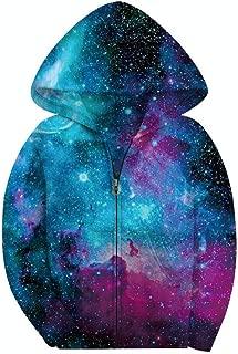 Big Girls' Youth Galaxy Teen Fleece Full Zip Jackets Pullover Hoodies