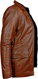 ABz Leathers Hunger Games Jacket - Real Brown Leather Jennifer Lawrence Katniss Everdeen Jacket (S, Brown)