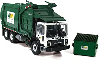 First Gear 1/34 Scale Diecast Collectible Waste Management Mack TerraPro with Wittke Front Loader with Trash Bin (#10-4001)