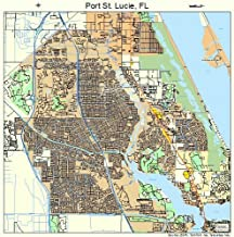 Image Trader Large Street & Road Map of Port St. Lucie, Florida FL - Printed poster size wall atlas of your home town