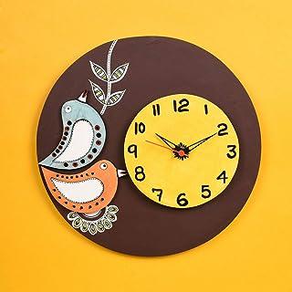 Aakriti Art Creations Handpainted Multicolor Wall Clock