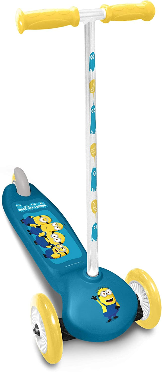 Stamp Steering Scooter 3 Wheels Minions 2, Unisex-Youth, Azul