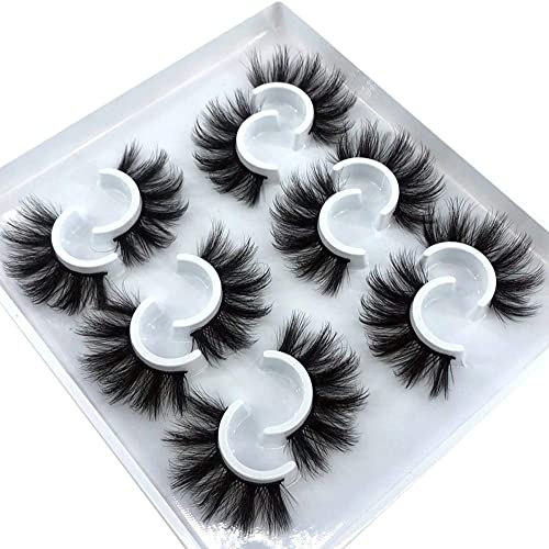 high quality HBZGTLAD 6 wholesale Pairs Fluffy False Eyelashes Natural Faux Mink 2021 Strip 3D Lashes Pack (MDF-12) outlet sale