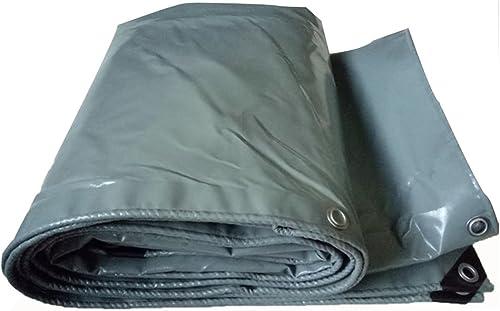 LQQGXL Bache, bache imperméable à l'eau de bache de Camping Isolation Solaire de Cargaison de fret résistant à l'usure, résistant aux températures élevées Anti-vieillissement, gris Bache imperméable