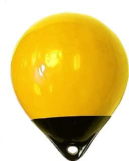 """KUFA Yellow/Black 12"""" Diameter (inflated Size: 12 x 15) Mark Buoy Mooring Buoy Anchor Lift Buoy Shrimp Trap Buoy A30Y"""