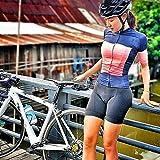 Combinaison de cyclisme pour femmes Triathlon Ensembles de maillots à manches courtes Combinaison de vélo Maillot de cyclisme pour femmes de l'équipe professionnelle respirante