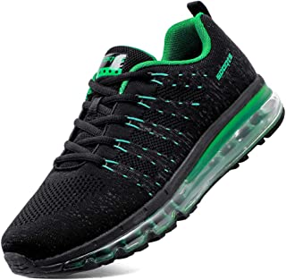 FOVSMO Men's Air Cushion Running Shoes, Light Gym Casual Outdoor Walking Sneakers