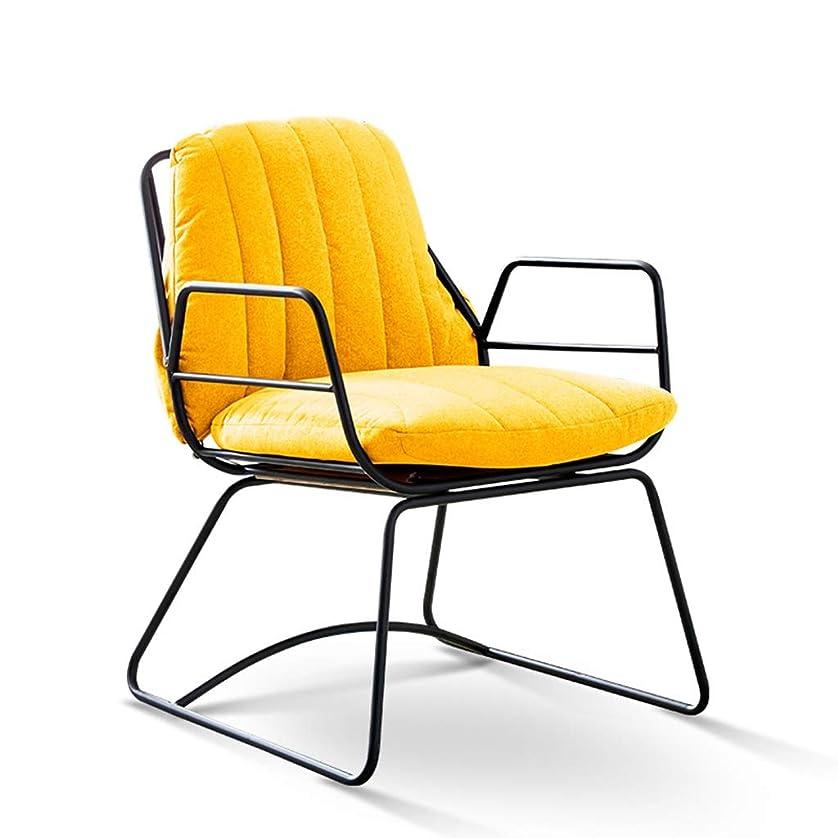 会計士せせらぎ福祉XIABAOBAO ソファチェアベッドルーム怠zyなラウンジチェアレジャーソファスツールレストランチェア (Color : Yellow)
