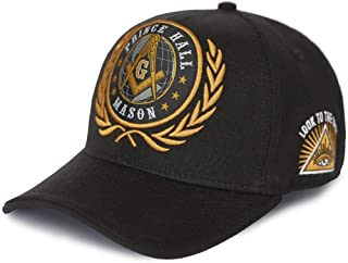 Big Boy Headgear Mason Prince Hall New Adjustable Cap Black