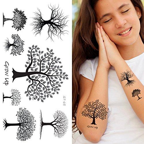 Supperb Temporary Tattoos - Black & White Trees