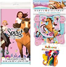 Spirit Riding Free Themed Party Decorations – Includes Party Banner,Tablecloth and Ten 12