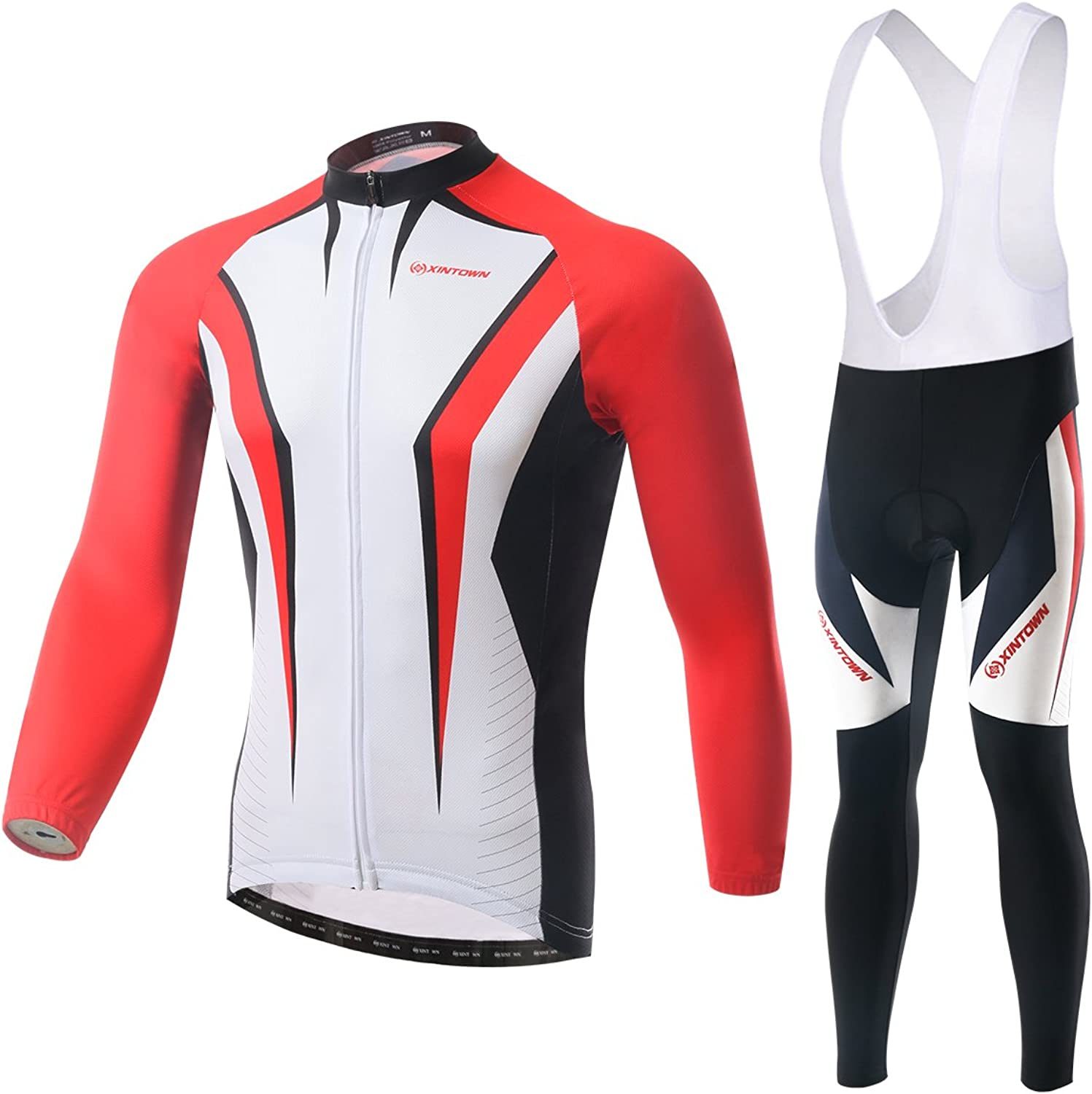 Xing Show Cycling Bike Bicycle Jersey Pants Set Bib Suit Long Sleeve Sharp sword