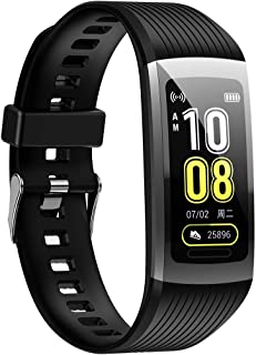 Action359 Smart Fitness Tracker Watch Fit Band Smartwatch Men Women Kid Android iOS Bluetooth Compatible Reloj Inteligente Hombre Mujer Heart Rate Running Walking Step Counter Sleep Monitor (Black)