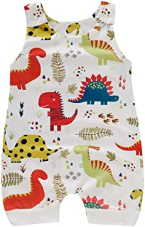 Newborn Baby boy Girl Romper Jumpsuit Sleeveless Animal Cartoon Print Bodysuit Overalls Outfits Clothes