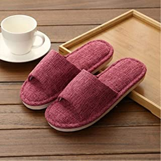 Men'S Ladies Home Slippers Solid Color Summer Large Household Indoor Slippers