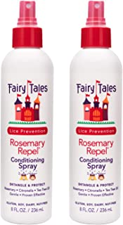 Fairy Tales Rosemary Repel Daily Kid Leave-In Conditioning Spray (8 oz) for Lice Prevention - Pack of 2