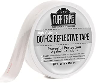 DOT Reflective Tape - White - DOT-C2 Conspiciuity Tape - COMMERCIAL ROLL - 2